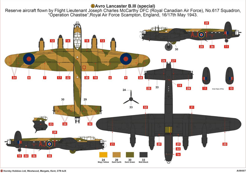 Lancaster Airfix instructions