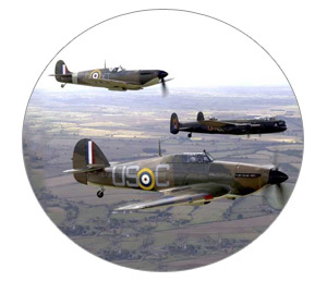 The RAF Battle of Britain Memorial Flight in 2007