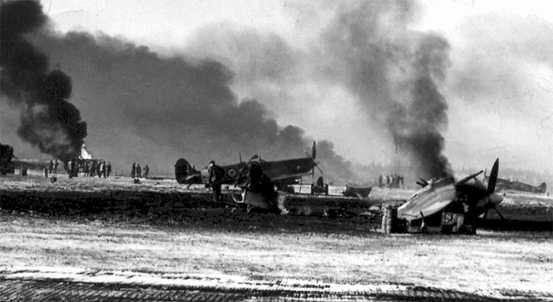 Attack on the airfield at St Denijs Westrem