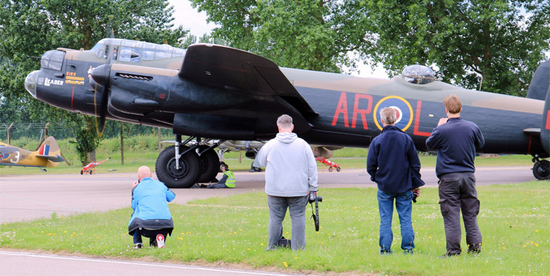 Get up close to the action and the noise as BBMF Lancaster PA474 starts up at RAF Coningsby.