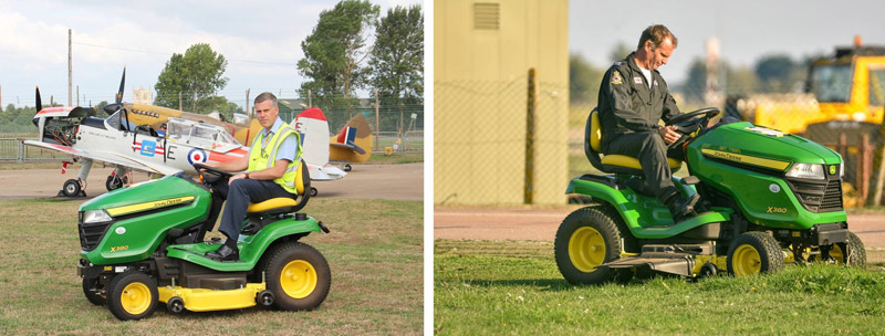 The BBMF's new ride-on lawn mower