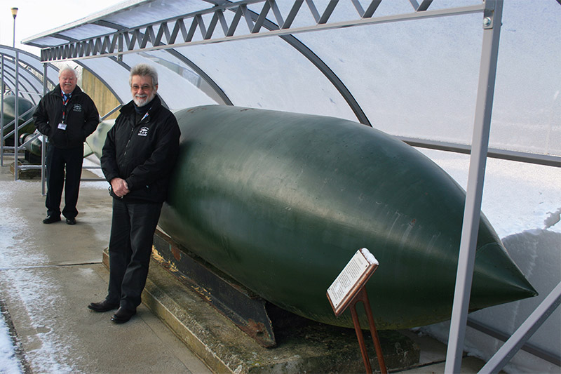 The BBMF Visitor Centre has a rare, real 'Grand Slam' bomb on show