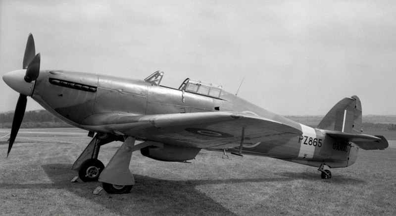 Hurricane PZ865 as it looked on handover to the BBMF in March 1972
