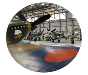 The RAF BBMF's aircraft hangar