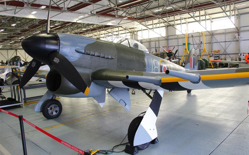 Hawker typhoon in the bbmf hangar raf memorial flight club hawker typhoon mn235 altavistaventures Choice Image