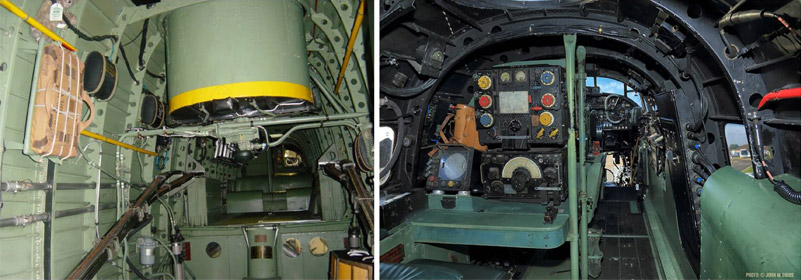 The inside of BBMF Lancaster PA474