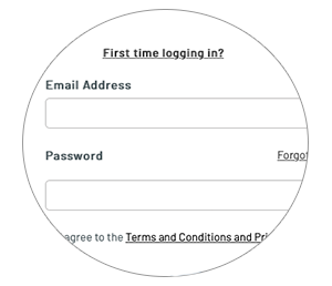 Log in screen for renewing your RAF Memorial Flight Club membership