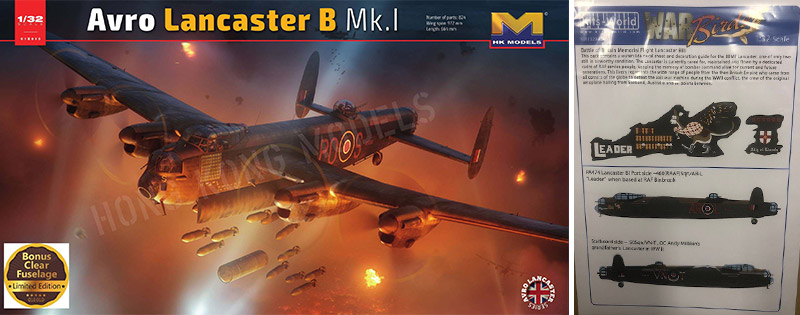 Lancaster scale model and decals