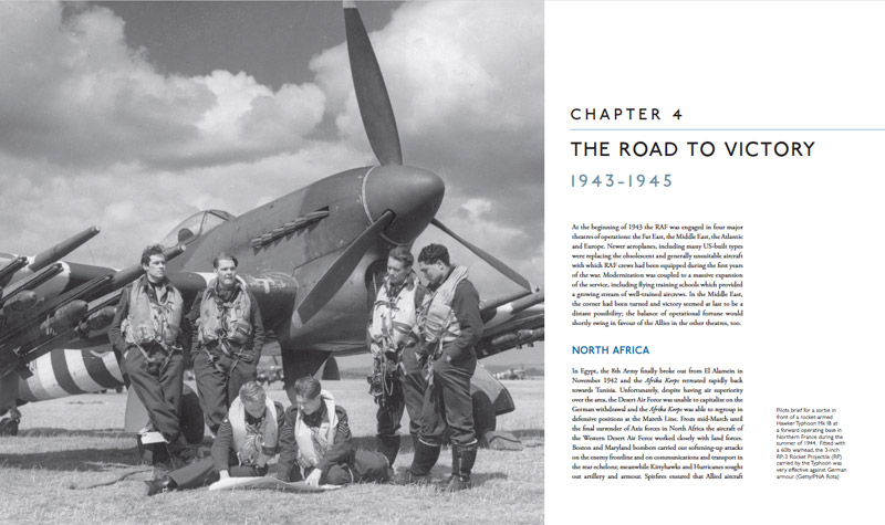 A spread from The Royal Air Force: A Centenary of Operations