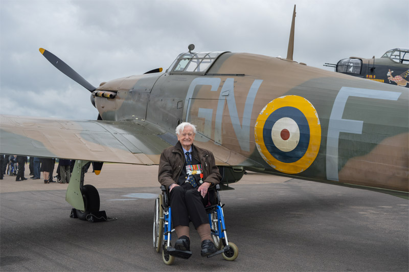 Tom Neil with Hurricane LF363