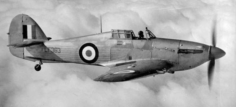 Hurricane LF363 in 1951