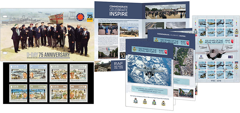 D-Day anniversary stamps