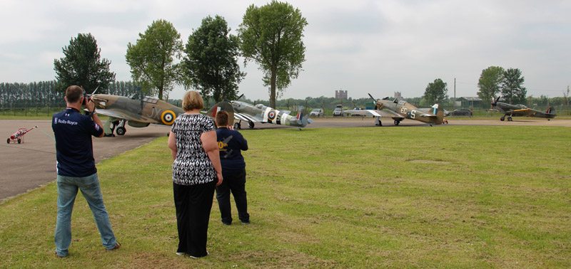 Exclusive access to the BBMF aircraft flying operations.
