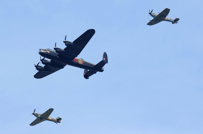 BBMF Lancaster, Hurricane and Spitfire