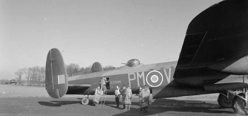 A 103 Sqn crew boarding their Lancaster