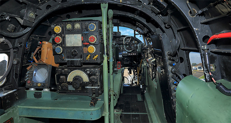 Inside the BBMF Lancaster PA474