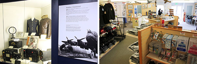 BBMF Visitor Centre exhibition displays and shop