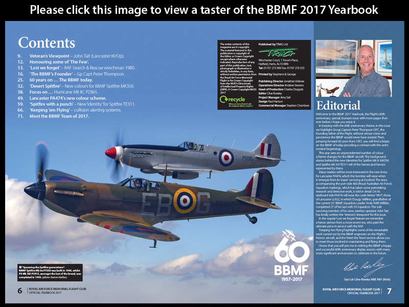 View a teaser of the BBMF yearbook