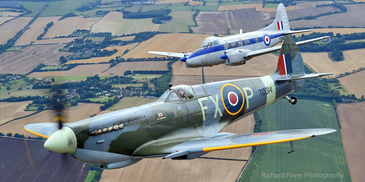 Win a flight alongside a Spitfire