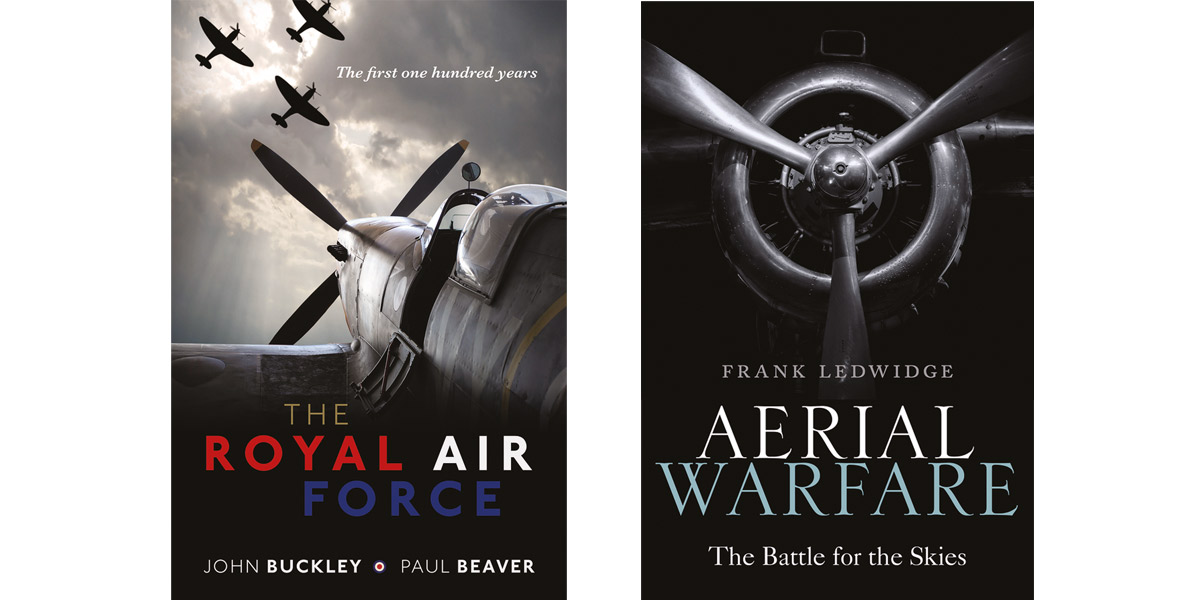 The Royal Air Force: The First One Hundred Years by John Buckley and Paul Beaver and Aerial Warfare: The Battle for the Skies by Frank Ledwidge
