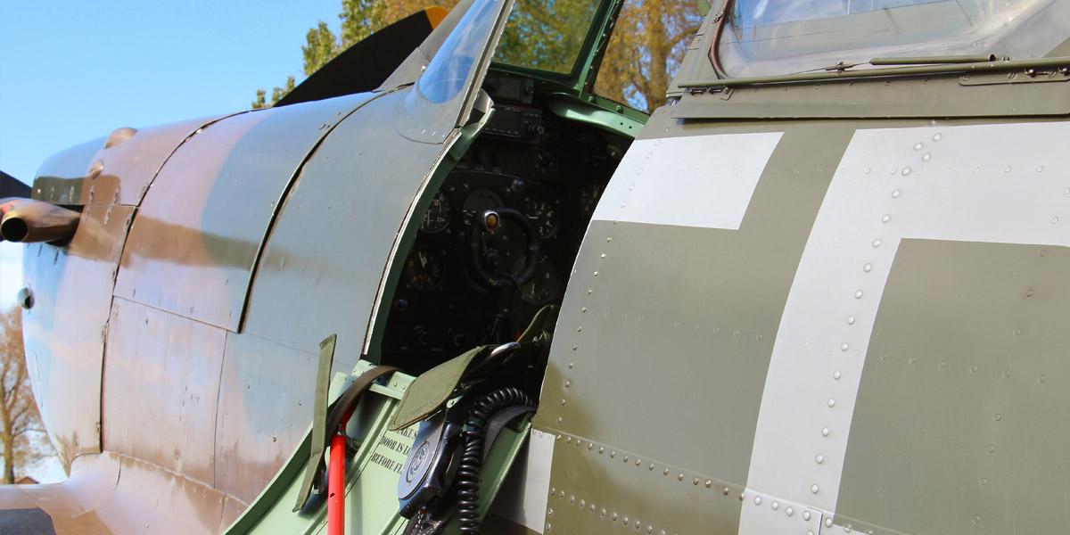 BBMF Spitfire cockpit