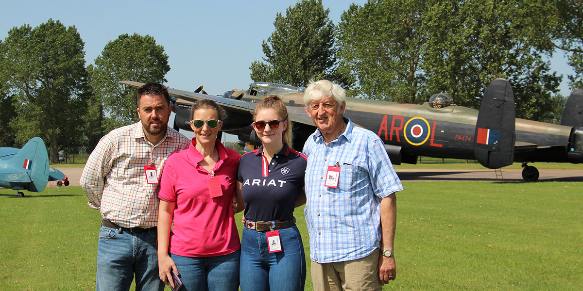 2019 BBMF Experience Day prize winner, Club member Anthony Andrews and family