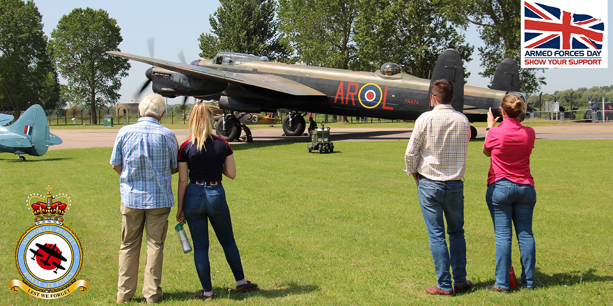 BBMF Experience Day prize winner Anthony Andrews watching the Lancaster