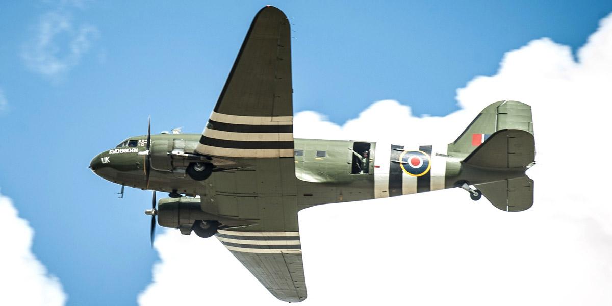 Warrant Officer Ken Cranefield DFC flew 'Daks' with 233 Sqn during 1944.