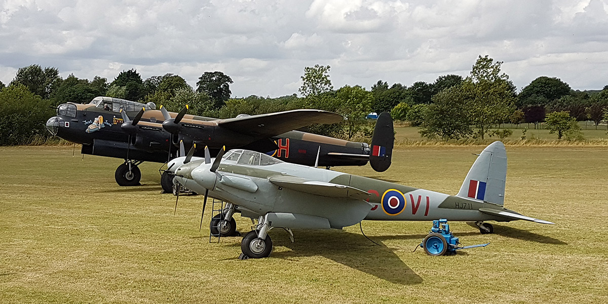 Mosquito HJ711 at the Lincolnshire Aviation Heritage Centre
