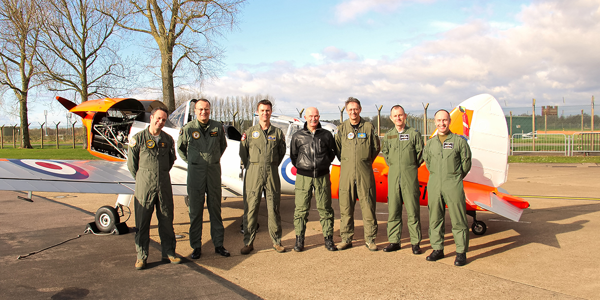 Royal Netherlands Air Force Historic Flight with BBMF fighter pilots