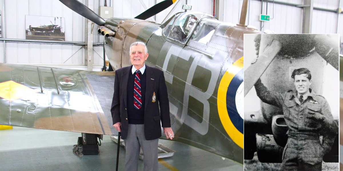 Ron Gould at the BBMF