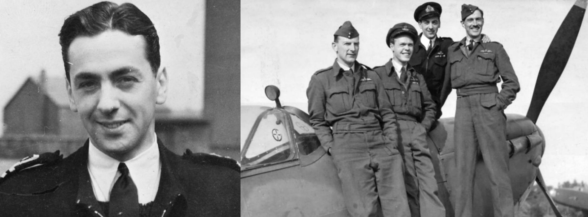 Eric Winkle Brown with RAF test pilots
