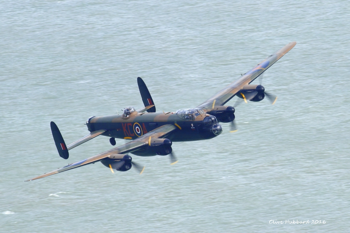 Avro Lancaster PA474 off Beachy Head 2016