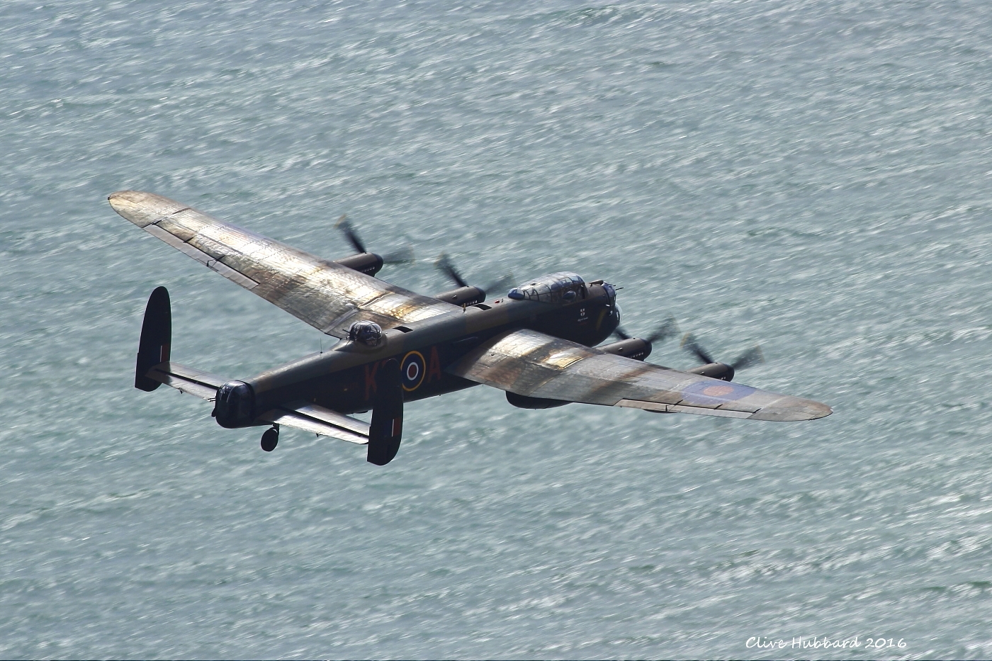Avro Lancaster PA474 off Beachy Head 2016