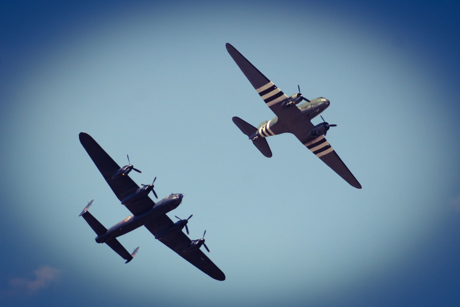 My two favourite aircraft - Lanc & Dak together