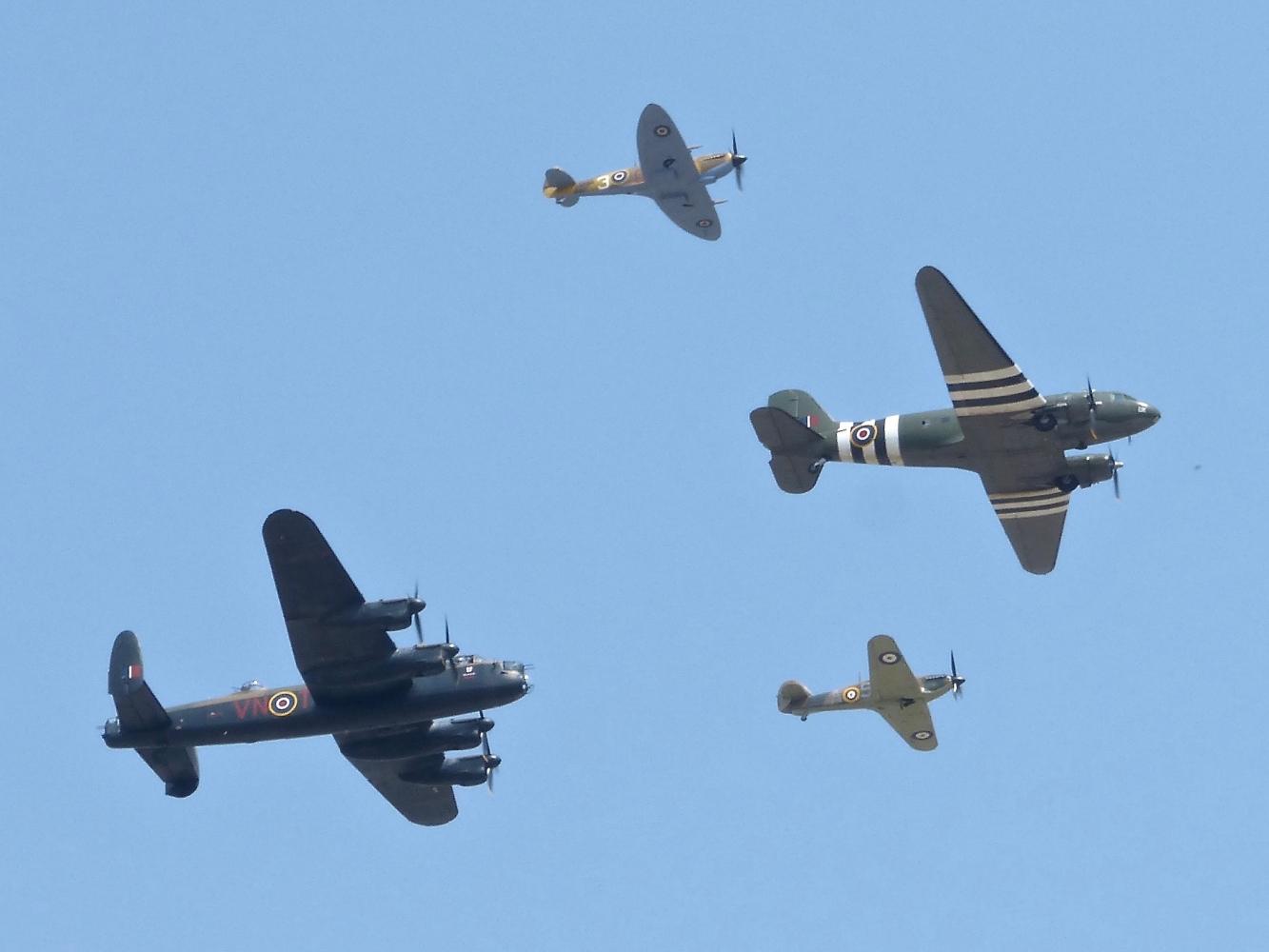 BBMF Trenchard Formation RAF Coningsby July 2018